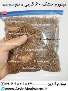 Arvin Mealworm سایت فروش میل ورم | www.arvinmealworm.ir | غذای خشک میل ورم وزن 60 گرم | غذا و مکمل حیوانات | لارو میلورم | لارو میلورم 60 گرمی | میلورم گرمی | میل ورم گرمی | میل ورم شصت گرم | میل ورم خشک 60 گرم | روش خشک کردن میلورم | دستگاه خشک کن میلورم